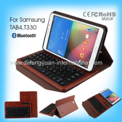 Colored Flexible Bluetooth Keyboard for Samsung Tab 4 T330 computer keyboard stand