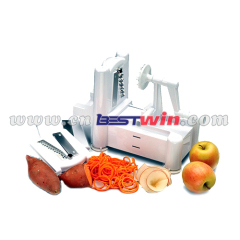 Tri-Blade Plastic Vegetable Spiral Slicer 3 in 1