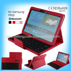 Durable Tablet bluetooth keyboard leather cases for Samsung P900 tablet pc