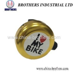 Red Heart High Security Bicycle Ring Bell
