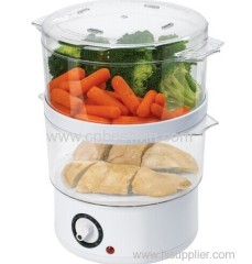 Quart Food Steamer Bowl Vegetable Chicken Fish Countertop Kitchen Cook