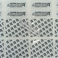 waterproof self adhesive warranty label