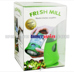 Plastic herb mill mini grinder