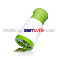 Plastic microplane herb mill spice mill