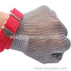 metal wire mesh safety gloves