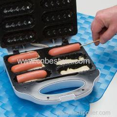 2014 Most Popular Cheap Hot Dog Sandwich Maker Electric 6 pcs hot dog waffle maker machine