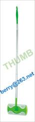 Aluminum handle flat mop green color