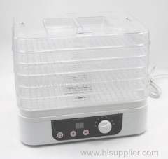 Square Food dehydrator with adjustable tray