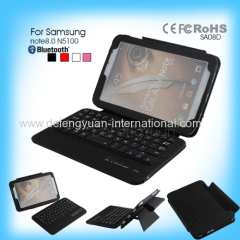 crocodile alligator bluetooth keyboard leather case for Samsung note8.0 N5100