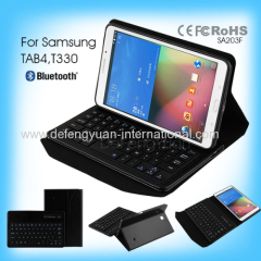 Popular Language Customized Bluetooth Keyboard Case for Samsung Tab 4 T330