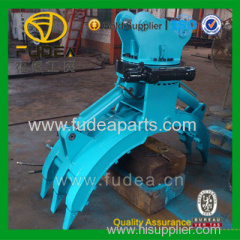 Durable and Safety Excavator Rock Grapple Log Grapple Bucket with 360 degree Rotation