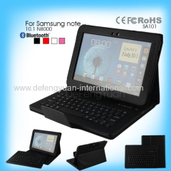 Case with keyboard for note10.1 N8000 Samsung Folding New Design Bluetooth Keyboard Case