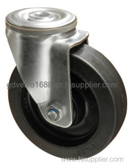 5 inches short offset distance non-standard rubber casters