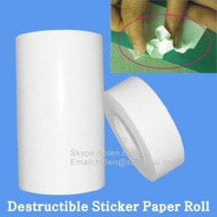self destructible security material roll