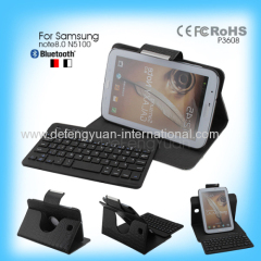Wireless Detachable Leather Magnetic bluetooth keyboard for Samsung note8.0 N5100