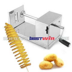 Stainless steel Tornado potato slicer cutter Carrot spiral cutting machine