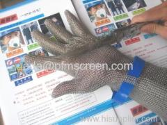 long sleeve chainmail safety gloves