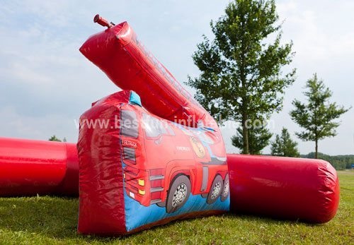 Fire Engine inflatable bouncy house
