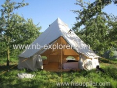 Canvas bell tent for camping