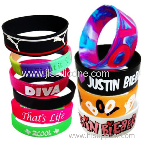 Sport Color Silicone & Rubber Wist Brand With Printed