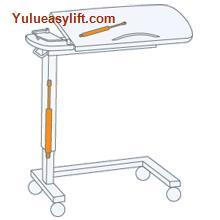 Hospital Over Bed Tables Gas Spring