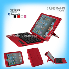 Fashionable convenient 2 in 1 Leather bluetooth keyboard for ipad mini