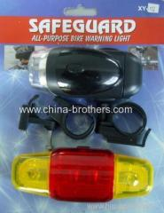 LED Bicycle Lamp Set With Yellow Head Taillight