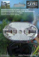 9 LED White Bicycle Tail Light