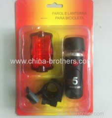 High Quality Bicycle Lamp Set With Plum-Type Taillight