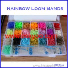 colorful Rainbow Loom Kits Rubber Bands DIY Bracelet