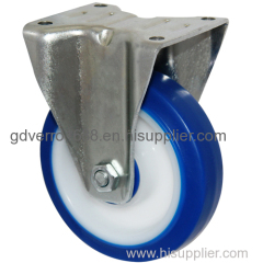 Fixed shock-resistant TPE casters