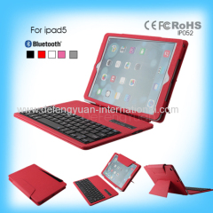 Bluetooth wireless pull-up detachable leather keyboard case
