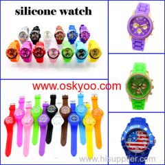 New ICE silicone Jelly colorful promotion watch factory wholesale