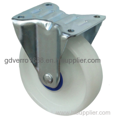 Fixed bracket PP industrial casters