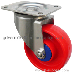 4 inches red PP swivel bracket industrial casters