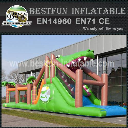 Inflatable Crocodile Obstacle Course