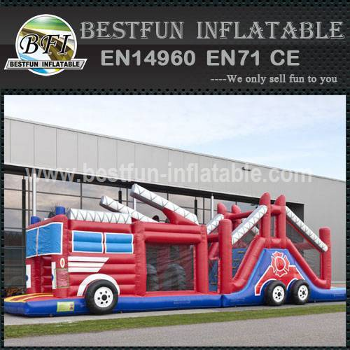 Inflatable Obstacle Course Firefighters 17.3M