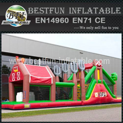 Inflatable Farm Obstacle Course 17.5M