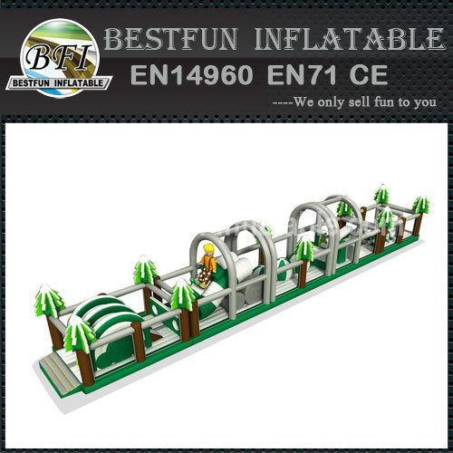 Mega Winter Inflatable Obstacle Course 35M
