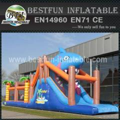 Inflatable Shark Obstacle Course 17.3M