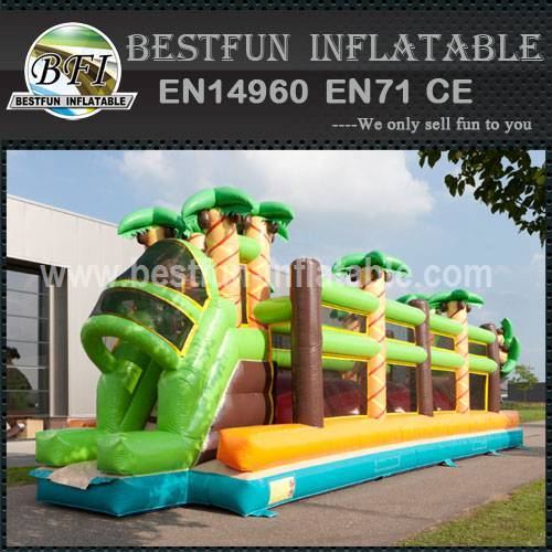 Red Balls Inflatable Obstacle Course