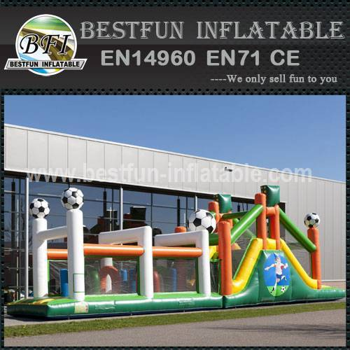 Inflatable Football Obstacle Course 17.3M
