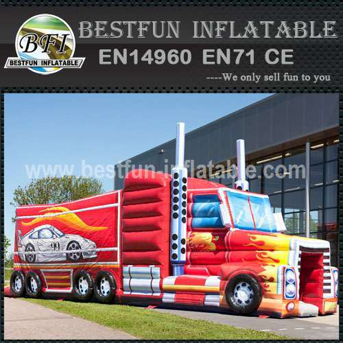 Inflatable Obstacle Course Truck