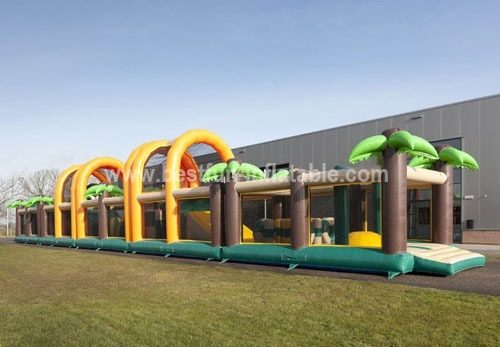 Commercial PVC inflatable obstacle combination