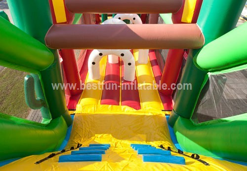 Giant multi-functional inflatable obstacle course