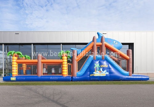 Inflatable shark adventure obstacle sport games