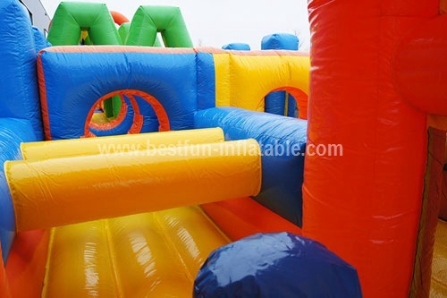 Outdoor Adult Inflatable Obstacle Course