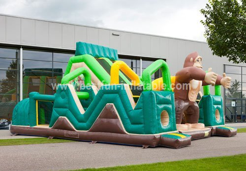 Safari Inflatable Challenge Obstacle Course