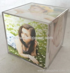 New plastic transparent cubic photo frame
