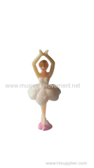 White Shiny Skirt Dancing Ballerina Doll For Paper Jewelry Music Box